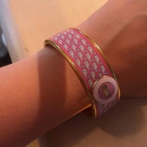 Vineyard Vines pink whale bracelet